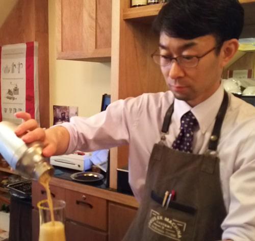 山口英人さん(CAFE CUPOLA mejiro オーナーバリスタ)